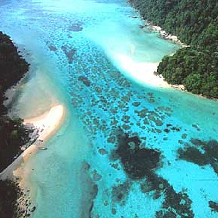 The Surin Islands are known for it's aqua blue waters and it's shallow reefs
